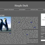 ladda ner gratis bloggdesign - simple dark