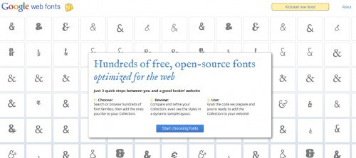 Typsnitt - Bloggdesign - Google Web Fonts